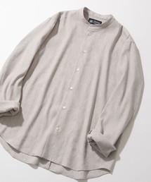 ADAM ET ROPE'(アダム エ ロペ)の【CARREMAN】リネンストレッチシャツ(シャツ/ブラウス)