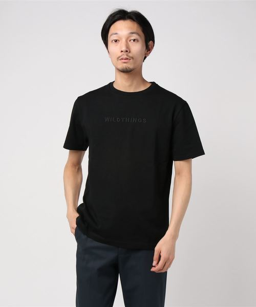 【WILDTHINGS/ワイルドシングス】EMBROIDERY LOGO Tシャツ