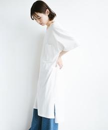 haco!(ハコ)の【L・LLサイズあり】1枚で着ても重ね着もかわいいビッグTシャツワンピース(ワンピース)