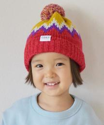 【coen キッズ / ジュニア】ジャガードポンポンワッチ(ニット帽)