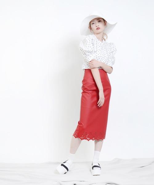 Narcissus(ナルシス)の「【cheap!!by vaNite】タイトスカート(スカート)」|レッド