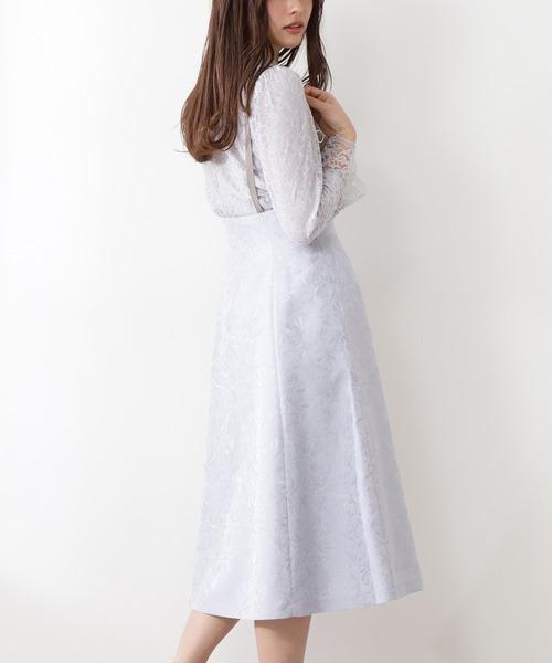 <WEB限定>ニュアンスジャガードジャンパースカート / 1211140900