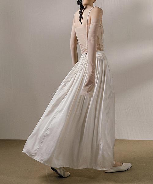 【MURMURMI】2way lace up skirt chw21a015