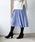 TIENS ecoute(ティアンエクート)の「サフィールギャザーミモレスカート(スカート)」|パープル