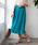 TIENS ecoute(ティアンエクート)の「サフィールギャザーミモレスカート(スカート)」|ターコイズブルー