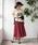 TIENS ecoute(ティアンエクート)の「サフィールギャザーミモレスカート(スカート)」|詳細画像