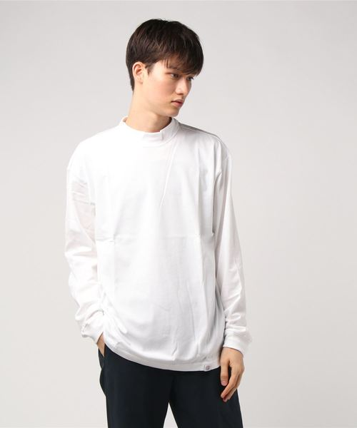 AMERICAN RAG CIE Mockneck Longsleeve T Shirt/アメリカンラグシー モックネックロングスリーブTシャツ