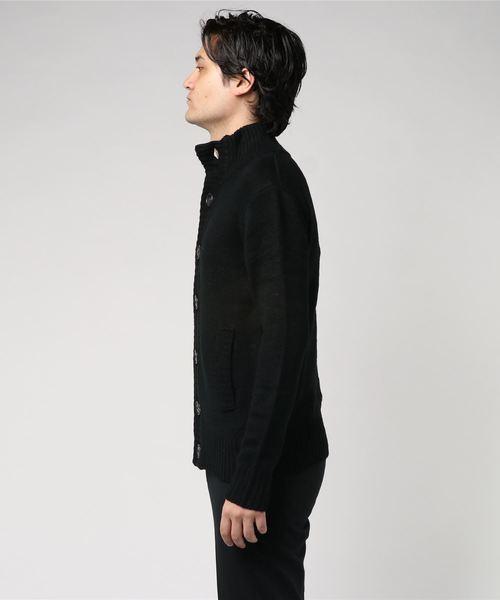 【03 BURNER SELECT】ケーブルハイネックカーディガン