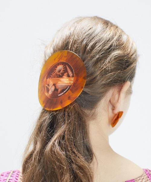 THEATRE PRODUCTS(シアタープロダクツ)の「ハンドメイドシェル バレッタ(バレッタ/ヘアクリップ)」 オレンジ