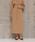 Liesse(リエス)の「バックタックハイウエストスカート(スカート)」|ベージュ
