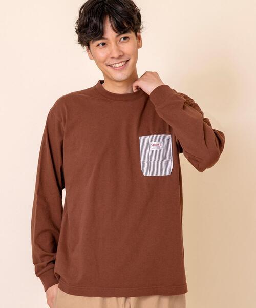 【女性にもオススメ】SMITH'S別注ポケットロングスリーブTシャツ#