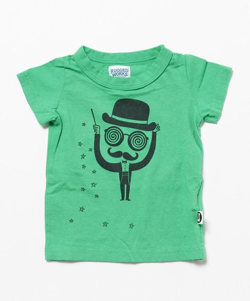 手品師プリント半袖Tシャツ