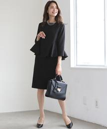 DRESS LAB(ドレスラボ)のペプラム&スカート フォーマルセットアップスーツ【2点セット】(セットアップ)