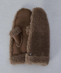 <GUSHLOW&COLE>MOUTON BOA MITTENS/ミトン.