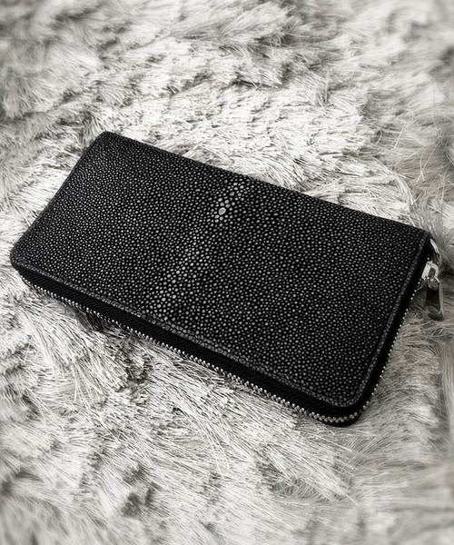 直送商品 スティングレーラウンドウォレット DECADE(No-01097) Stingray Leather Round Wallet エイ革, 鎌倉カフス工房 0dc6a522
