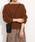 ROPE' mademoiselle(ロペマドモアゼル)の「【AQUA】カシミヤブレンドボートネック袖パフニット(ニット/セーター)」 ダークブラウン