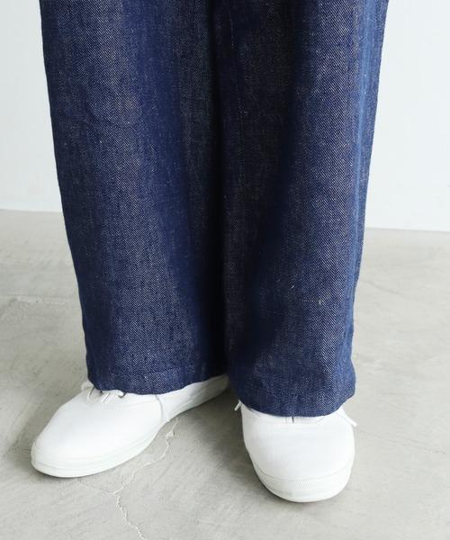 yuni(ユニ )の「リネンデニム ダボパンツ(その他パンツ)」|詳細画像
