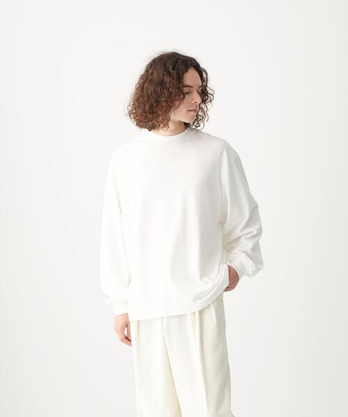 <CITEN(シテン)>GIZAコットン スタンドネック Tシャツ
