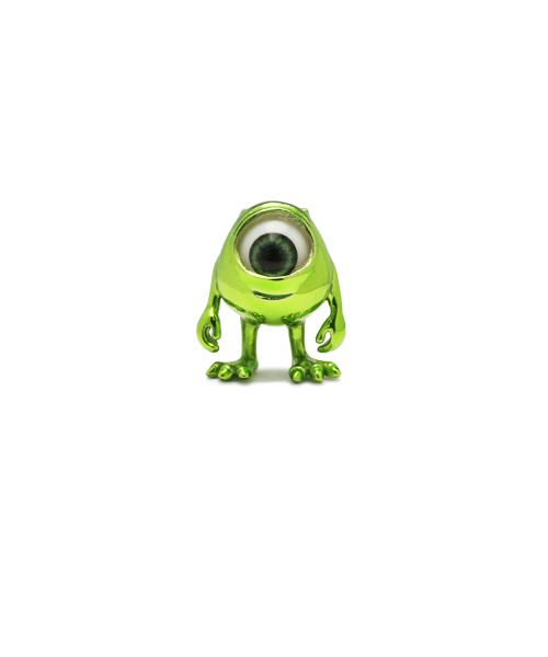 Disney(ディズニー)の「モンスターズユニバーシティー マイクピアス(グリーン)/シルバー925/プレゼント(ピアス(片耳用))」|グリーン