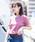 Wordtrobe(ワードトローブ)の「【wordtrobe】コーマ天竺 刺繍 Tシャツ(Tシャツ/カットソー)」|ピンク