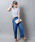 Wordtrobe(ワードトローブ)の「【wordtrobe】コーマ天竺 刺繍 Tシャツ(Tシャツ/カットソー)」|詳細画像