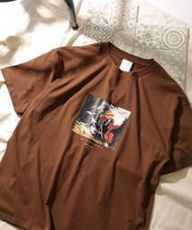 オートモアイ/別注プリントTEE HORSE/アートTシャツ(Tシャツ/カットソー)