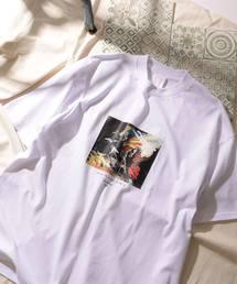 ▽オートモアイ/別注プリントTEE HORSE/アートTシャツ(Tシャツ/カットソー)