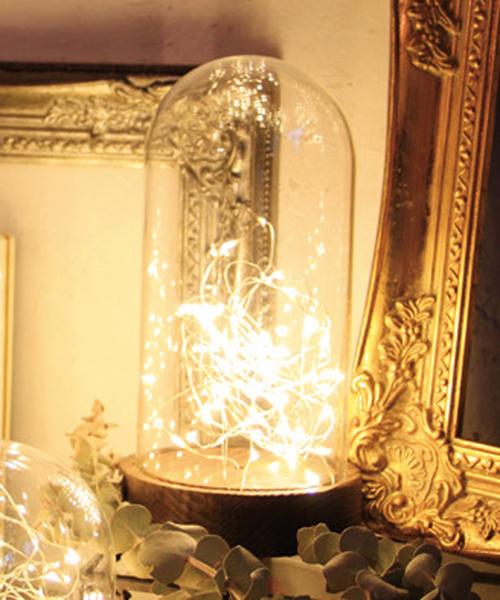 SPICE OF LIFE(スパイス オブ ライフ)の「LEDガラスドームライト ハイタイプ Sサイズ(照明)」 クリア