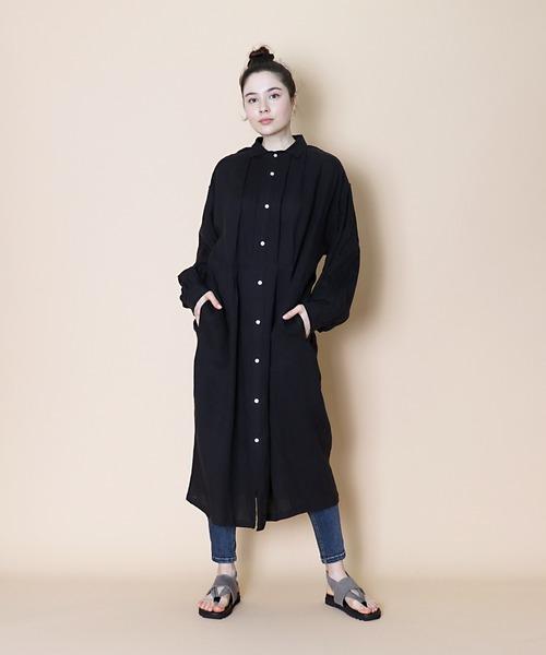 【 Le sans Pareil /ルサンパレイユ】OX CLASSIC FRANCH WIDE LONG SHIRTS オックスフォード フレンチ ワイドロングシャツ femme ( レディース )