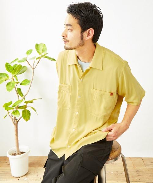 UNIVERSAL OVERALL/ユニバーサルオーバーオール レーヨンツイルオープンカラー半袖シャツ