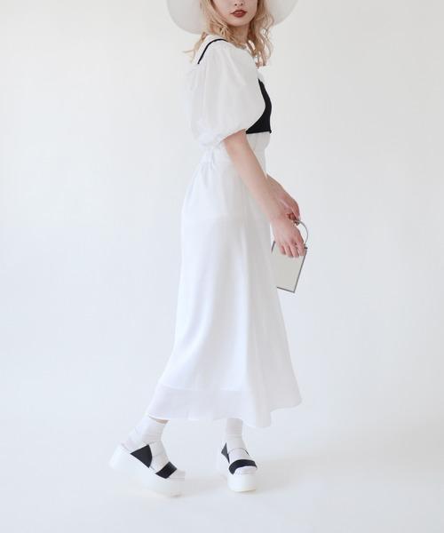 Narcissus(ナルシス)の「【cheap!!by vaNite】サテンスカート(スカート)」 ホワイト