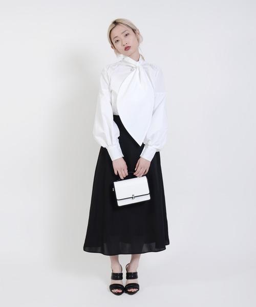 Narcissus(ナルシス)の「【cheap!!by vaNite】サテンスカート(スカート)」|ブラック