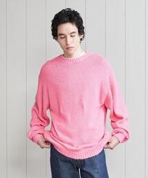 <H>TWIST CREW NECK KNIT/ニット