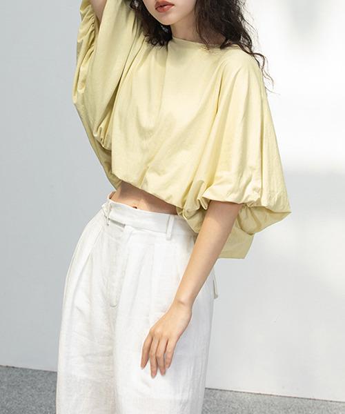 【chuclla】【2021/SS】Volume flare sleeve blouse chw1564