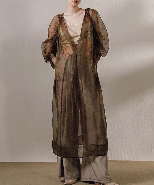 【MURMURMI】Vintage silk wrinkled dress chw21a018