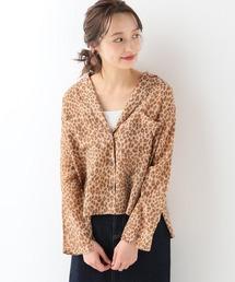SLOBE IENA(スローブイエナ)のTICCA Leopard ショートシャツ(シャツ/ブラウス)