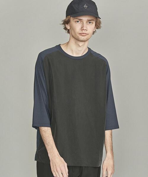 【WEB限定】 by ポプリンコンビ ワイドフォルム クォータースリーブ Tシャツ  -MADE IN JAPAN-