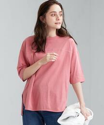 SC ピグメント 6分袖 プルオーバー Tシャツ