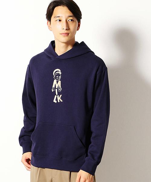 COMME CA COMMUNE(コムサコミューン)の「ミルクマン 刺繍 パーカ(パーカー)」|ネイビー