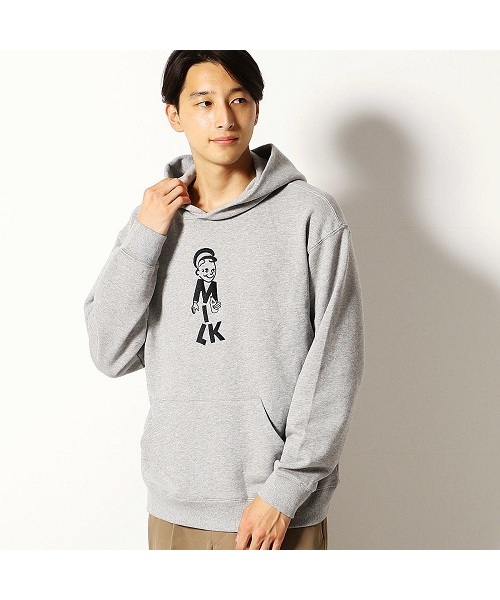 COMME CA COMMUNE(コムサコミューン)の「ミルクマン 刺繍 パーカ(パーカー)」|グレー