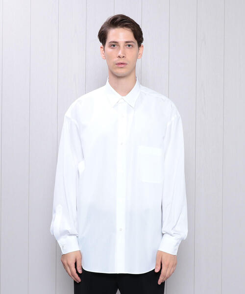 <H>BALLOON SLEEVE REGULAR COLLAR SHIRT/シャツ