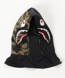 1ST CAMO SHARK FACE MASK HOODIE M(キャップ)