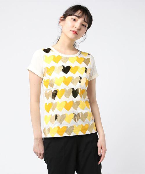 WM55 TS グラデーションハートプリントTシャツ