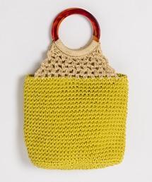 Cachellie(カシェリエ)のWEB限定 Cachellie ペーパー編みリングハンドルトートバッグ(トートバッグ)