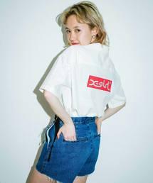 X-girl(エックスガール)のBOX LOGO S/S SHIRT(シャツ/ブラウス)