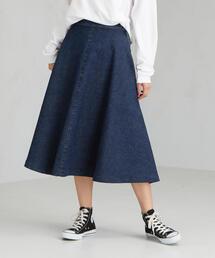 [別注 サムシング] SC SOMETHING×GLR デニム フレア スカート