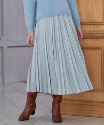 ANAYI(アナイ)のマットスエード調プリーツ スカート(スカート)