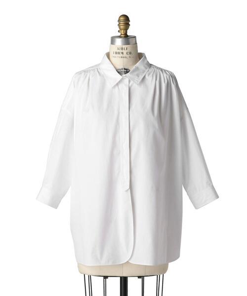 Drawer コットンホワイトカラーシャツ