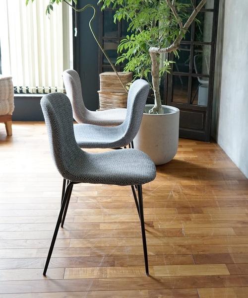zip design chair herringbone BLACK / デザインチェア ヘリンボン