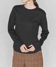 <ASTRAET(アストラット)>CO/PU クルーネック ロングTシャツ